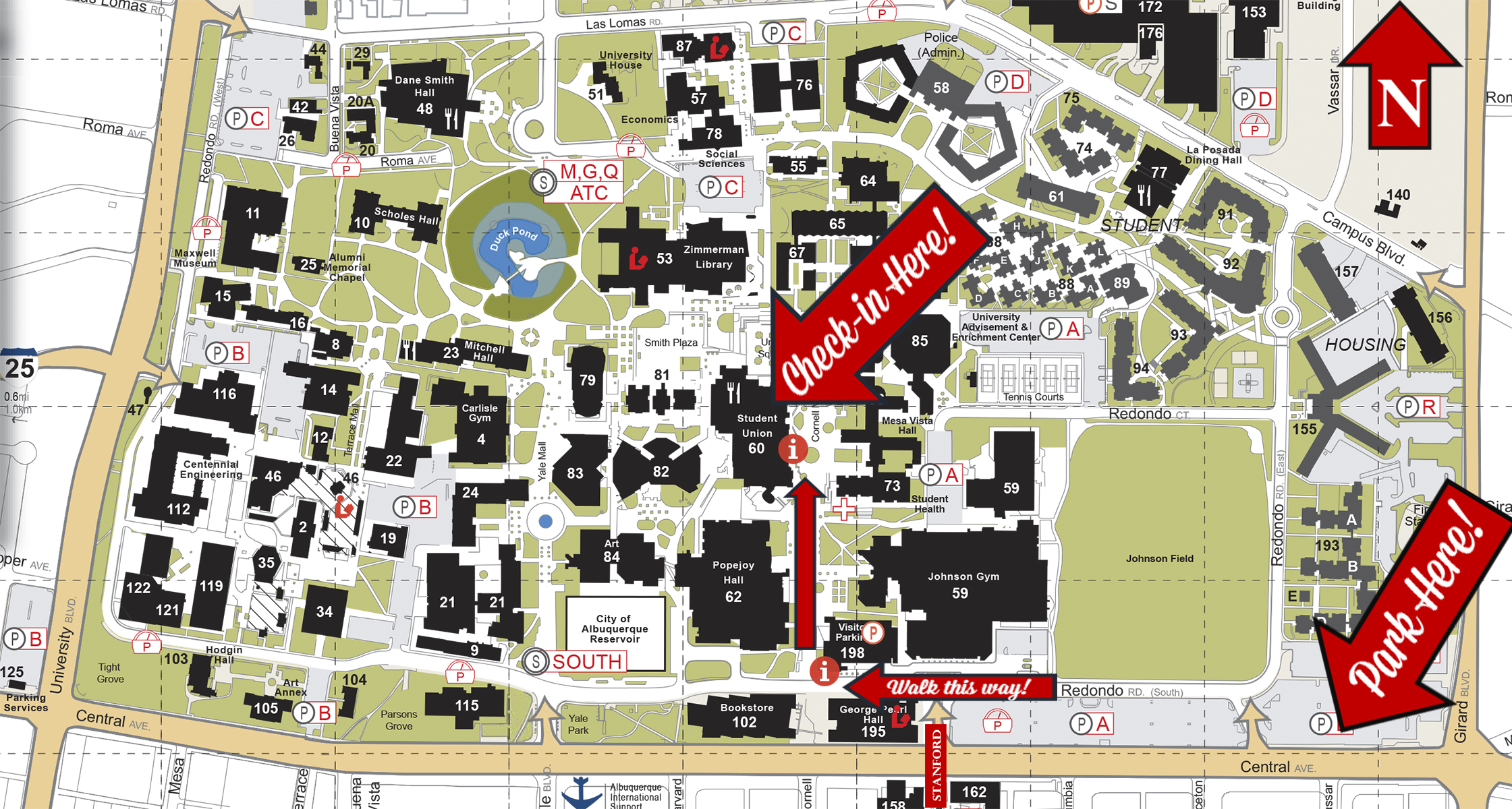 Getting Here :: New Student Orientation | The University of New Mexico